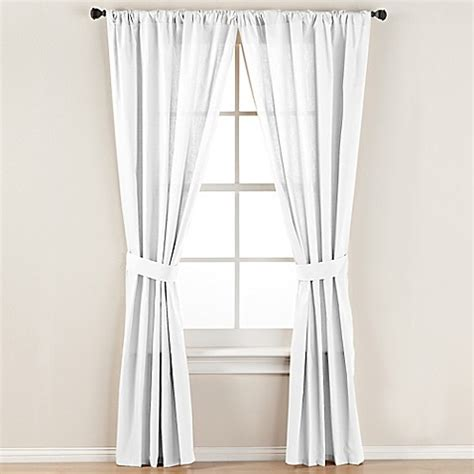 curtain rod tie backs smoothweave tailored rod pocket window curtain panel with