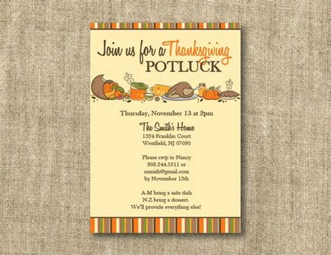 Wedding Announcement At Work by Thanksgiving Invitations Wording With Bring A Dish