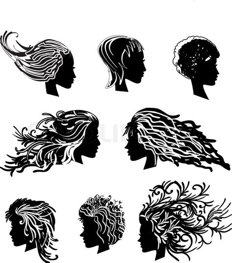 curly hair vector tutorial head hair stock vector colourbox