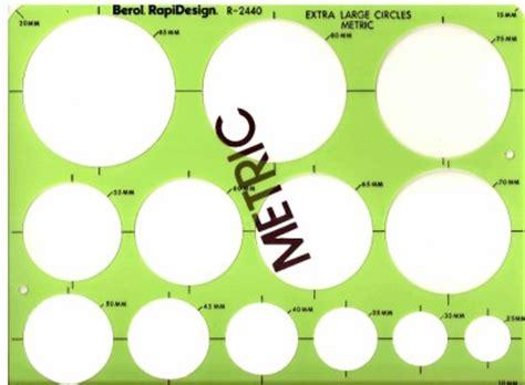 metric circle template berol rapidesign template metric large circle r