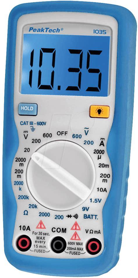 Multimeter Elektronik Peaktech 1035 Peaktech 1035 Digital Multimeter At Reichelt Elektronik