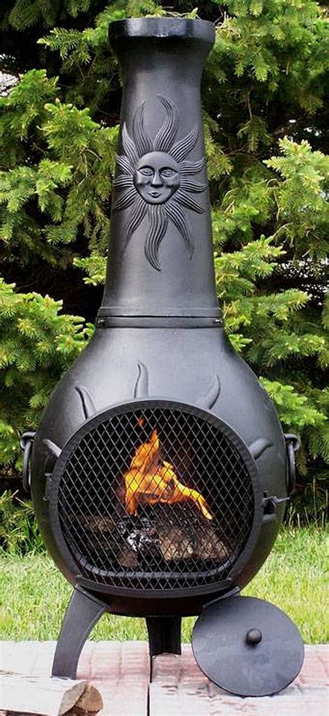 large chiminea outdoor fireplace sun stack chiminea alch029