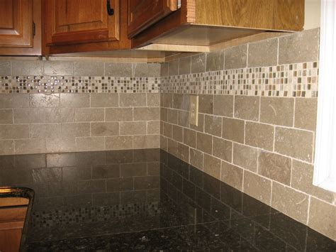 kitchens with mosaic tiles as backsplash new kitchen backsplash with tumbled limestone subway tile