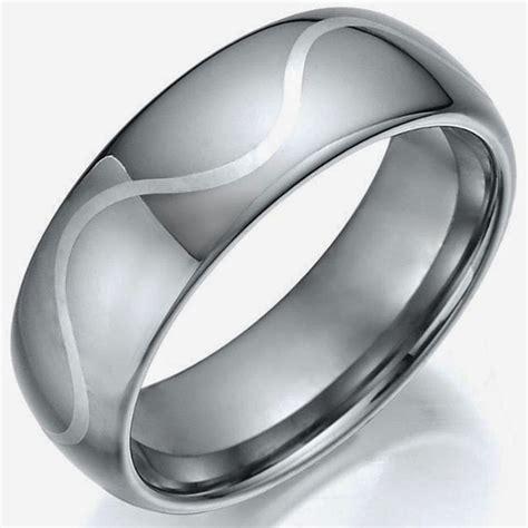 cheap silver wedding rings for men model