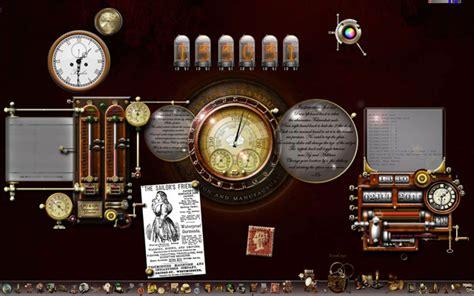 themes clock com steunk windows desktop by yereverluvinuncleber on