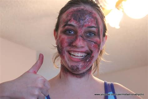 simple zombie makeup tutorial fashionably crafty paris easy zombie makeup tutorial for