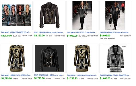 h m balmain selling on ebay business insider