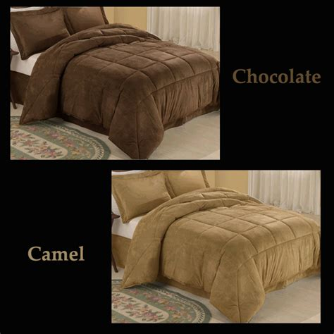 micro suede comforter microsuede king comforter down alternative bedding set ebay