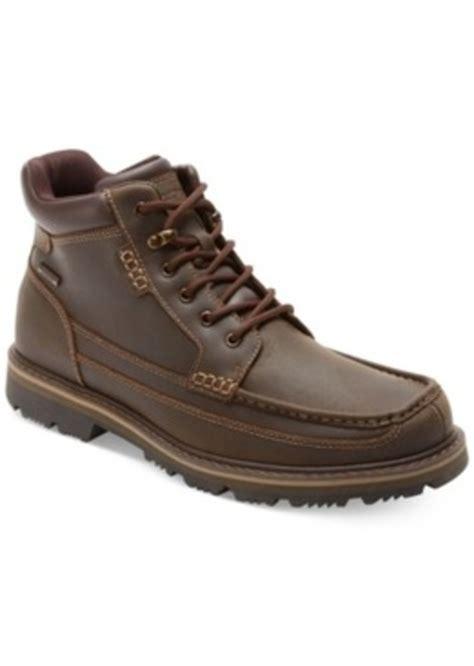 rockport boots mens waterproof rockport rockport gentleman s waterproof moc toe mid boots
