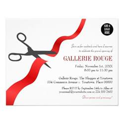 shop opening invitation templates simple ribbon cutting grand opening announcement