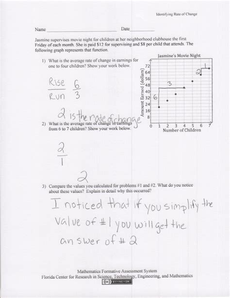 Average Rate Of Change Worksheet by Uncategorized Average Rate Of Change Worksheet