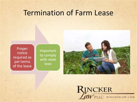 Farm Lease Termination Letter Exle lawline overview of common agriculture contracts