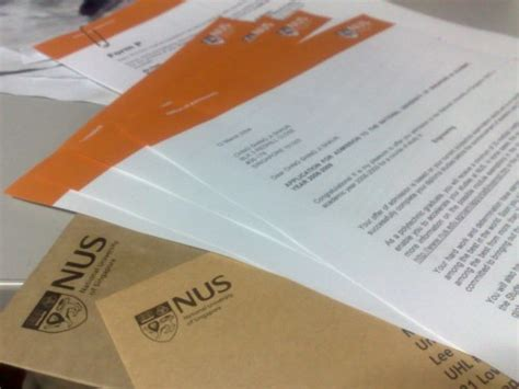 Acceptance Letter Nus Umm I Ve Received My 2008 Nus Admission Results Already And I Am In Shaunchng