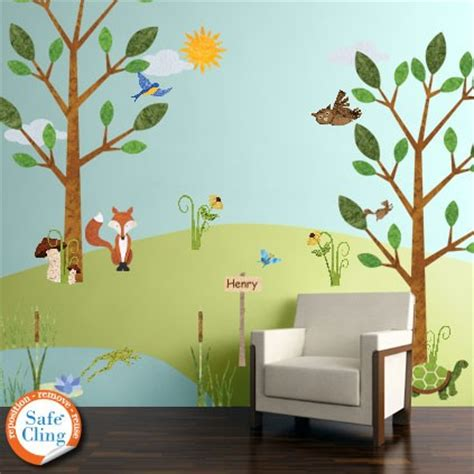 forest wall decals for nursery and room woodland
