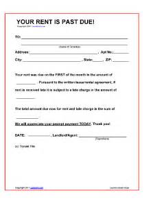 Rent Late Notice Template by Printable Sle Late Rent Notice Form Real Estate Forms
