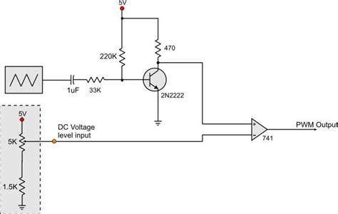 voltage controlled resistor transistor voltage controlled pwm generator