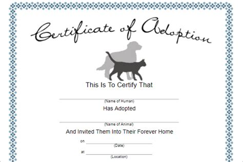 certificate of adoption template 17 adoption certificate templates free pdf word design