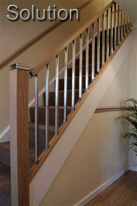 Chrome Banister Rails by Wooden Stair Banisters And Railings Studio Design