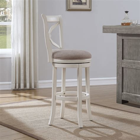 antique white swivel bar stools accera swivel bar stool antique white light brown