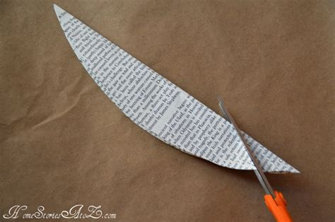How To Make A Paper Feather - how to make book page feathers paper crafts home