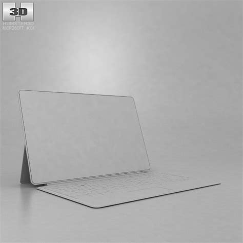 microsoft surface pro with type cover 3d model hum3d