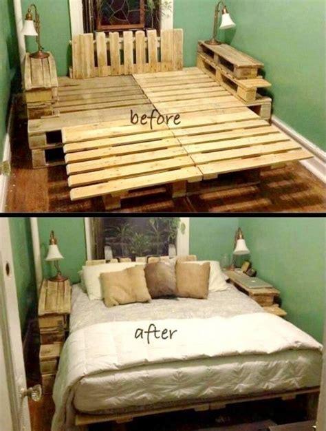 ideas  pallet bed frames  pinterest bed