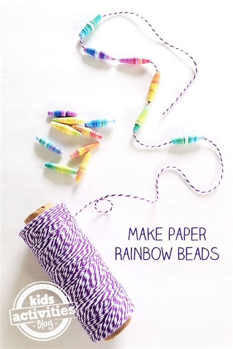 How To Make Paper Necklaces - make your own rainbow paper