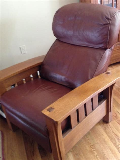 Stickley Leather Recliner by Stickley Leather Mission Style Sleeper And