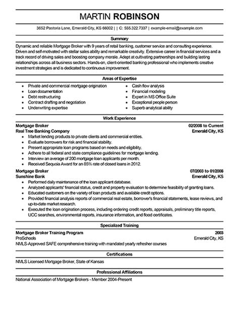 Mortgage Broker Sle Resume by Best Real Estate Resume Exle Livecareer