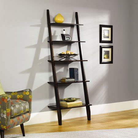 sauder ladder bookcase sauder grand lake ladder bookcase walmart