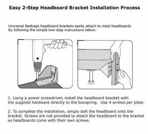 how to install headboard and bed legs