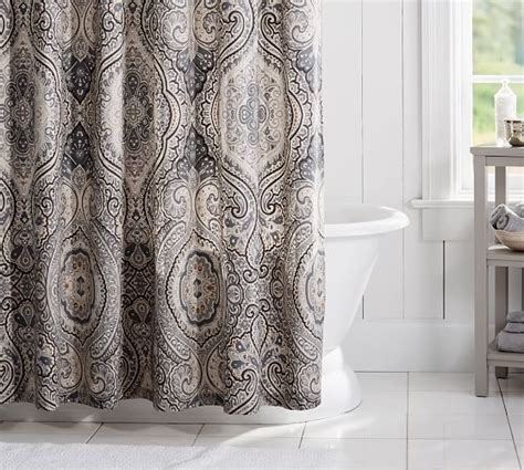 Paisley Shower Curtains Beale Paisley Shower Curtain Pottery Barn