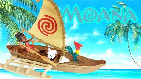 moana boat pictures disney moana adventure canoe mini doll hasbro toy moana