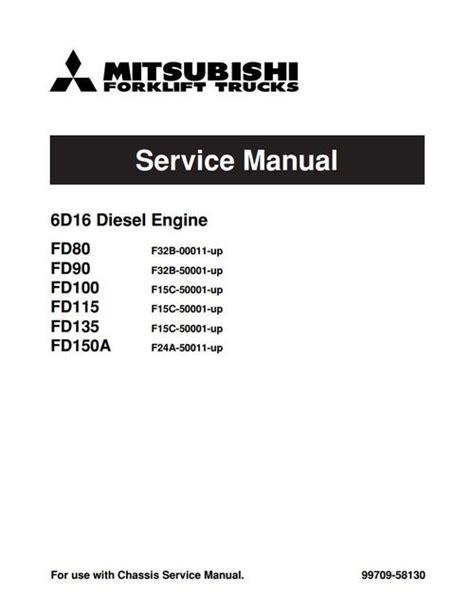 mitsubishi 6d16 diesel engine service repair manual manu