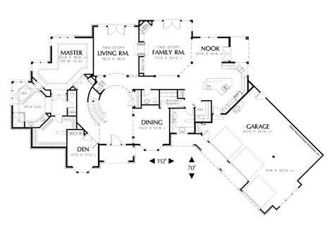 mascord house plan the holloway home design curved