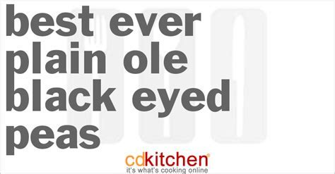 Best Ever Plain Ole Black Eyed Peas Recipe   CDKitchen.com