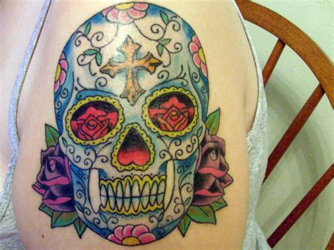 sugar skulls tattoos meaning sugar skull meaning cool tattoos bonbaden