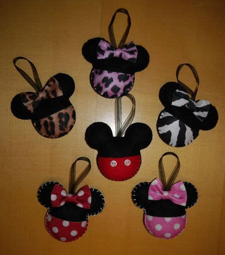 Mickey Mouse Handmade Decorations - handmade felt mickey decoration