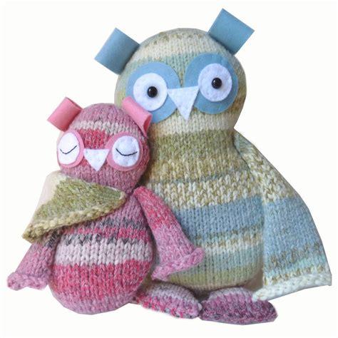 knitting kits two hoots owls knitting kit by gift knit kits