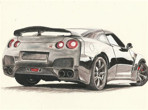 nissan gtr skyline drawing draw nissan gtr how to draw nissan skyline step by step