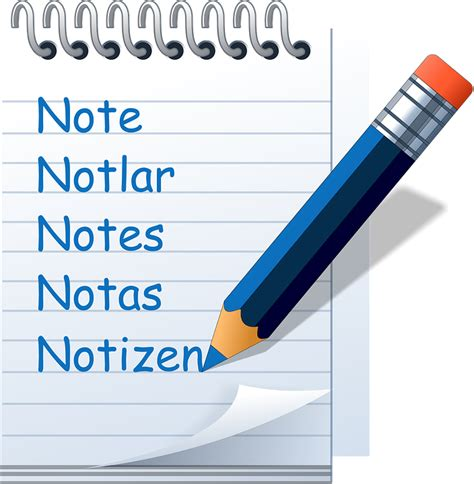 free illustration notepad symbol write down note