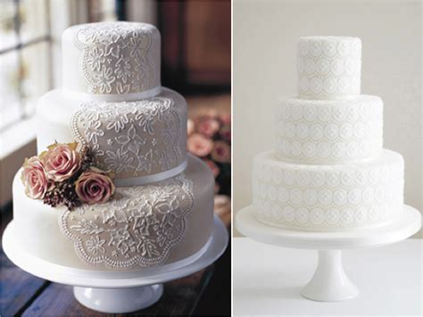 White Lace Wedding Cakes   Weddings By Lilly