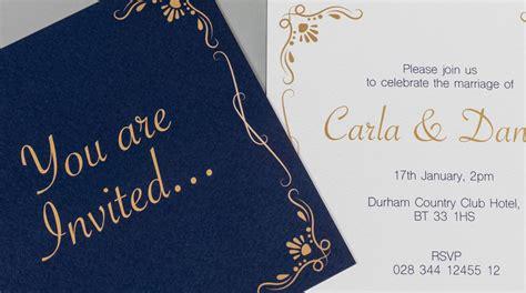 Flat Wedding Invitations Uk