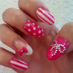 Cute acrylic nails with bows what nails are you sporting today page