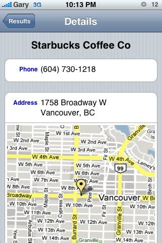 Canpages Lookup Canpages Voice Powered Iphone App Search Canadian Businesses Iphone In Canada