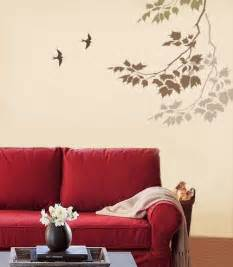 Living Room Wall Paint Stencils Beautiful Wall Painting Stencils To Play Up The Walls