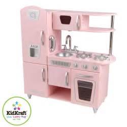 kidkraft pink vintage wooden play kitchen