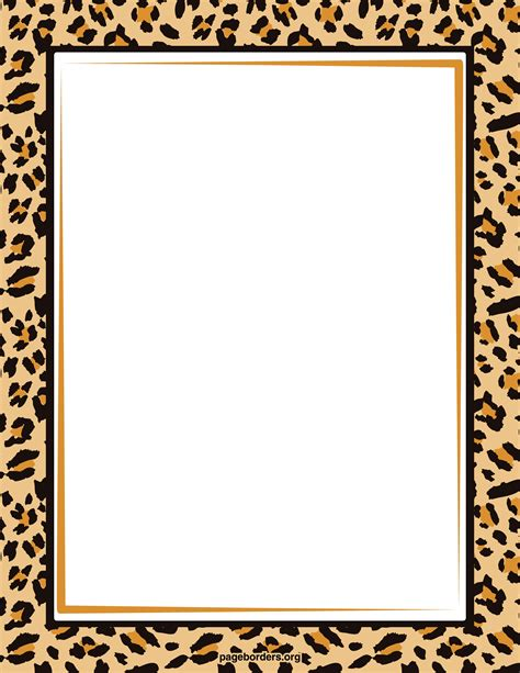 zebra print border template cliparts co