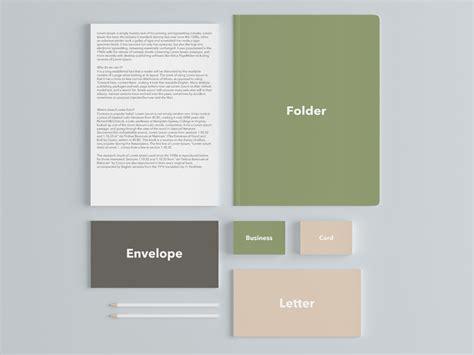 branding design mockup free download stationary branding mockup free psd at