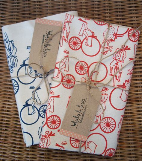 Bicycle Themed Home Decor Bicycle Print Dish Towels Velojoy